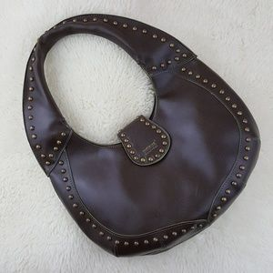 Matt & Nat Vegan Leather Studded Hobo Handbag